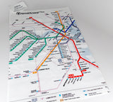 MBTA Map Hand Towel