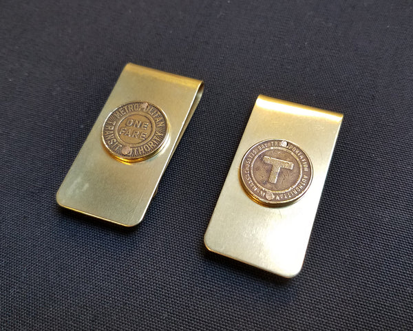 MBTA/MTA Token Money Clip