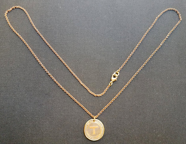 MBTA Token Pendant Necklace