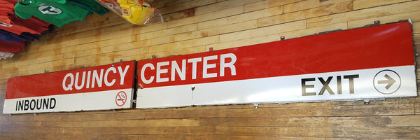 Quincy Center Two-Part Sign 1