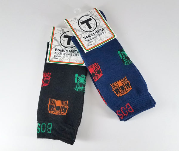 T Vehicle Adult Crew Socks