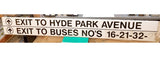 Hyde Park Avenue Sign from Forest Hills Station