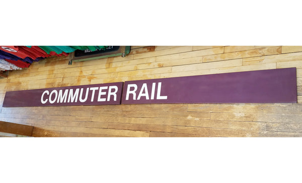 Commuter Rail Two-Part Sign from Forest Hills Station