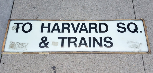 To Harvard Square & Trains Acrylic Sign