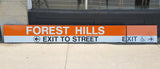 Forest Hills Station Two-Part Sign