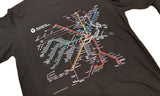 MBTA Map Black Long Sleeve Shirt
