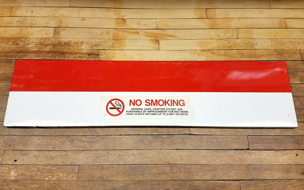 "Park Street Station: Red Line Ribbon ""No Smoking"" Sign"