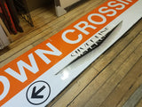 """Downtown Crossing - to Silver Line"" Orange Line Station Sign"