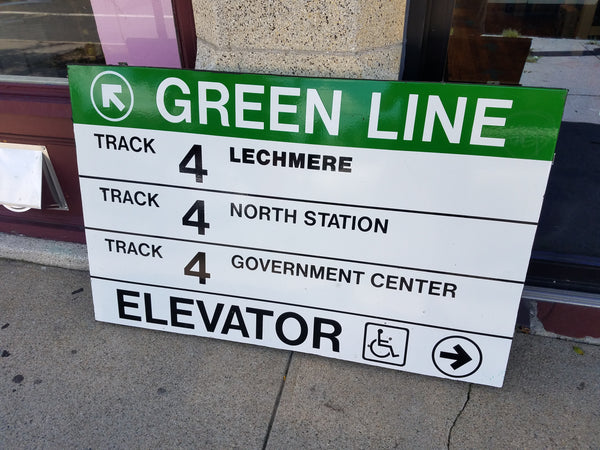 "Green Line ""Track 4"" Sign from Park Street Station (B)"