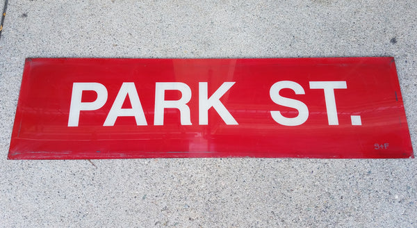 "Red Line ""Park St."" Acrylic Sign from Park Street Station"