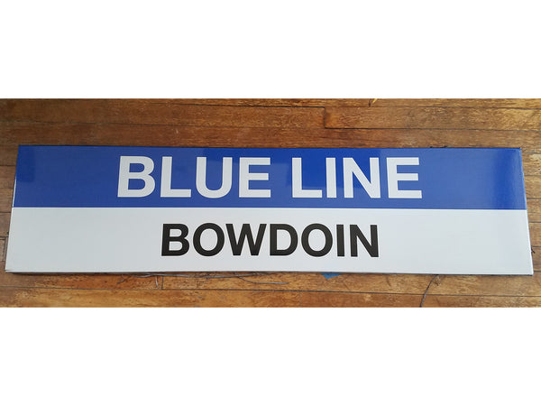 Blue Line BOWDOIN Sign from State Station