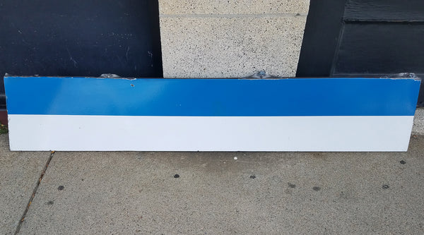 Blue Line 6' Blank Ribbon Sign from State Station