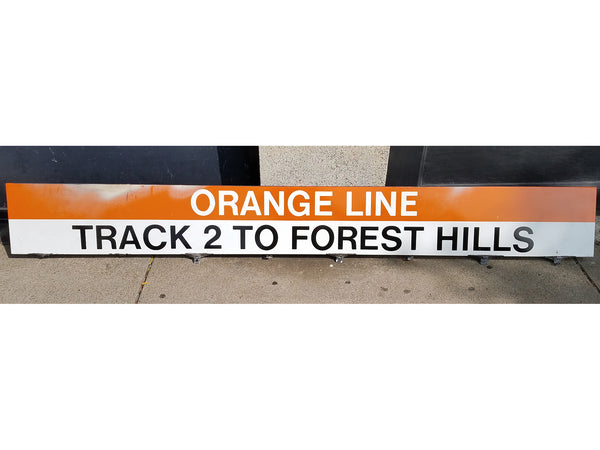 "Orange Line ""Track 2 To Forest Hills"" Sign from Downtown Crossing Station"
