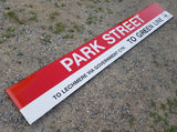 "Red Line ""PARK STREET; TO LECHMERE VIA GOVERNMENT CTR, TO GREEN LINE Right"" Sign from Park Street Station"
