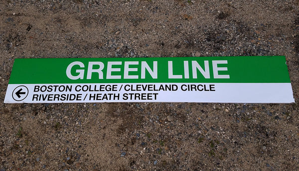 Park Street Station: Green Line to Westbound Stations 8' Ribbon Sign