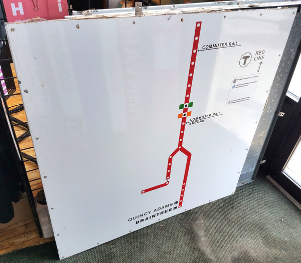 Quincy Adams Station: Red Line Outbound Map