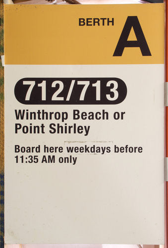 Orient Heights Berth A: 712/713 Bus Sign