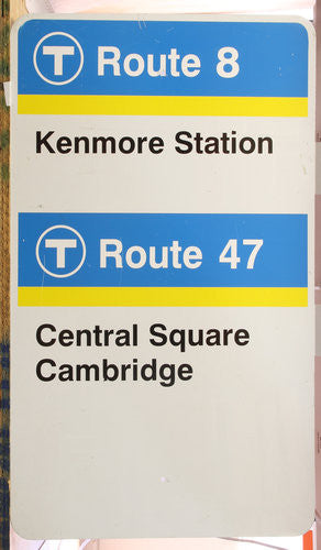 Routes 8 & 47 Bus Sign