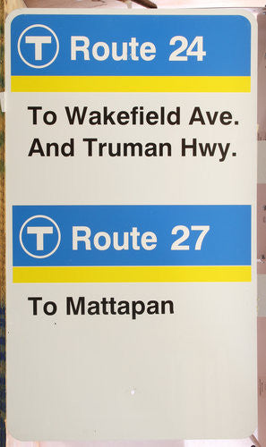 Routes 24 & 27 Bus Sign