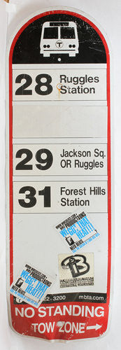 Routes 28, 29, 31 Bus Sign