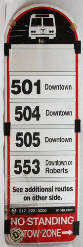 Routes 501, 504, 505, 553 Bus Sign