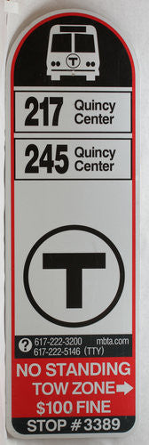 Routes 217, 245 Bus Sign