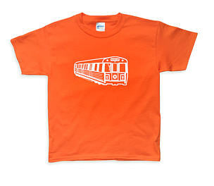 Orange Line Subway Car T-Shirt (Toddler/Youth)