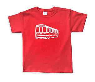 Red Line Subway Car T-Shirt (Toddler/Youth)