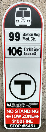 Routes 99, 106 Bus Sign