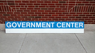 Government Center Blue Line Station Sign