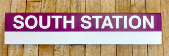 Commuter Rail South Station Stops 2' Wood Sign