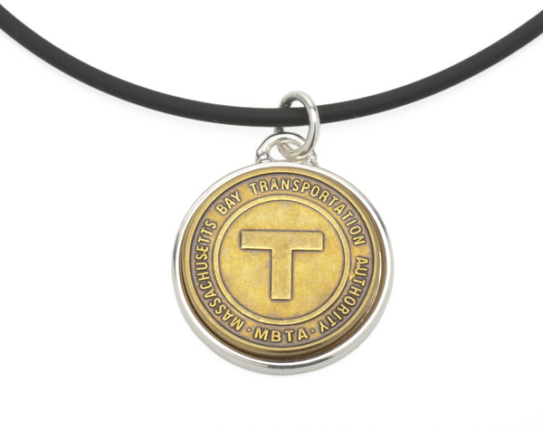 MBTA Token Pendant with Cord