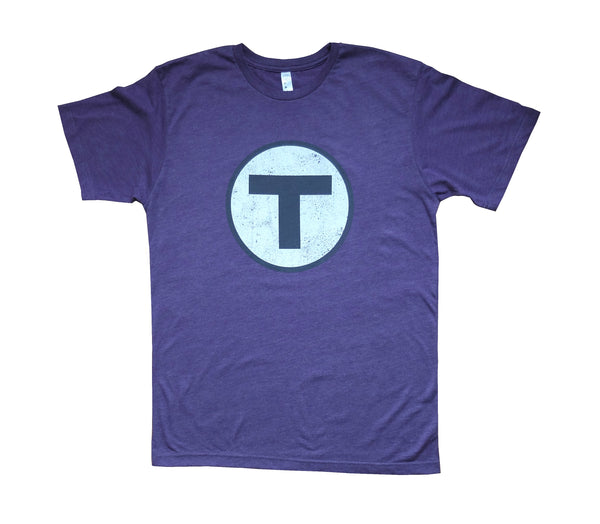 T Logo Purple T-Shirt (Adult Unisex)
