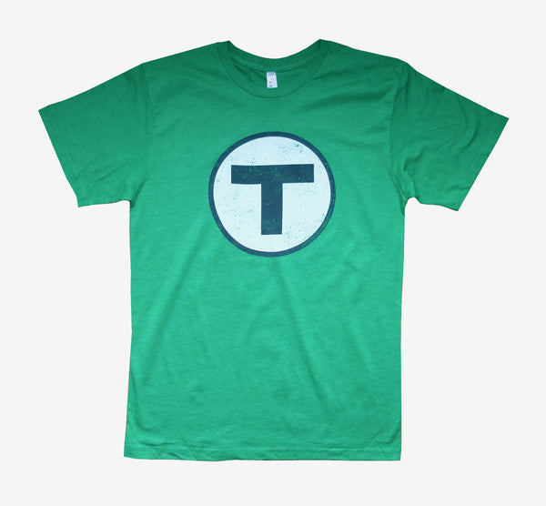 T Logo Green T-Shirt (Adult Unisex)
