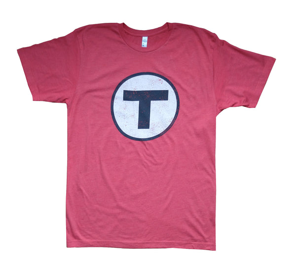 T Logo Red T-Shirt (Adult Unisex)