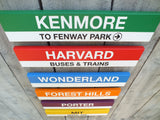 Red Line Stations 2' Wood Sign