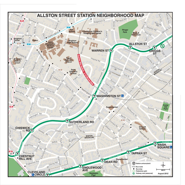 Allston Street Station Neighborhood Map (Aug. 2012)
