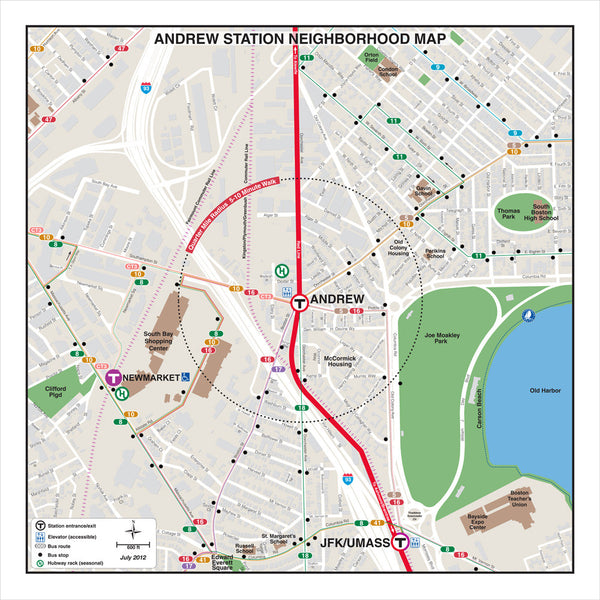 Andrew Station Neighborhood Map (Jul. 2012)