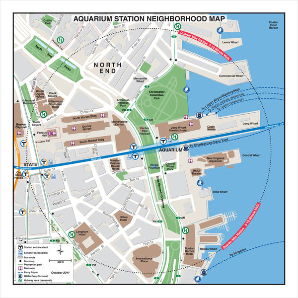 Aquarium Station Neighborhood Map (Oct. 2011)