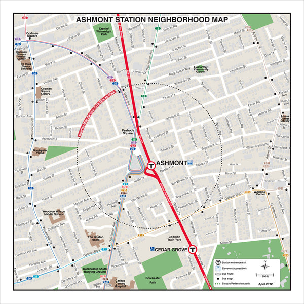 Ashmont Station Neighborhood Map (Apr. 2012)