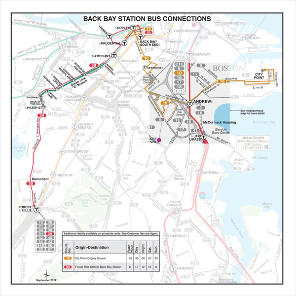 Back Bay Station Bus Connections (Sep. 2012)