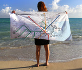 MBTA Map Beach Towel