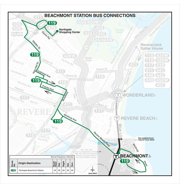 Beachmont Station Bus Connections (Jun. 2012)