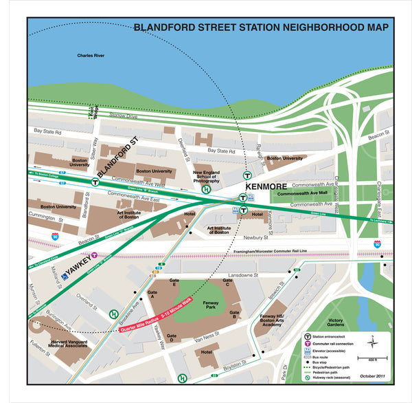 Blandford Street Station Neighborhood Map (Oct. 2011)