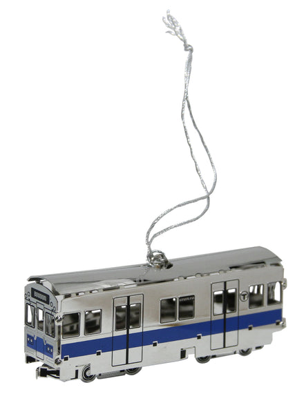 MBTA Blue Line Subway Car Ornament