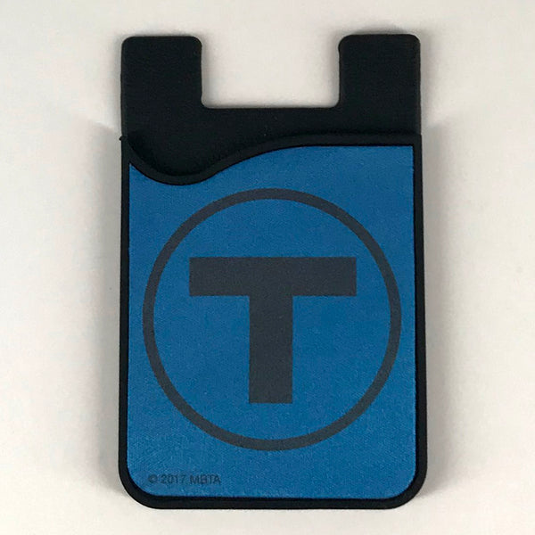 Blue Line Silicone Card Caddy Phone Wallet