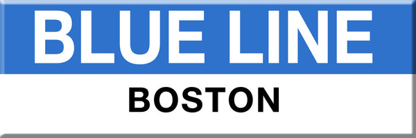 MBTA Blue Line Boston Station Magnet