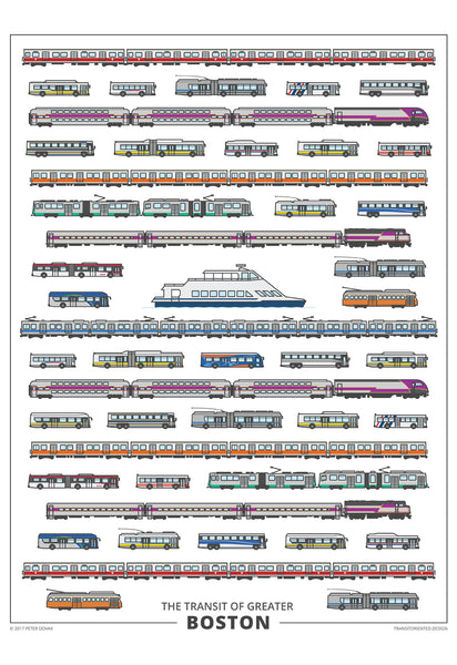 Boston Transit Vehicles