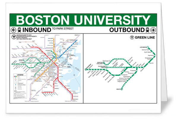 Boston University Station Greeting Card