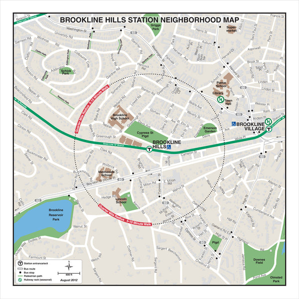 Brookline Hills Station Neighborhood Map (Aug. 2012)